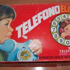 Juguetes antiguos: ANTIGUO JUGUTE TELEFONO ELECTRICO RIMA. NUEVOS EN CAJA ORIGINAL.. Lote 48618755