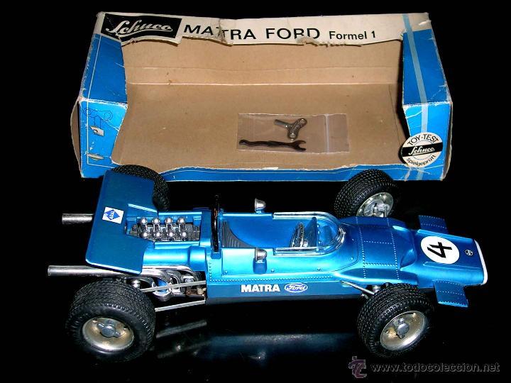 MATRA FORD F-1 FORMULA 1 REF. 1074, 24 CMS, ESC 1/16, MECANISMO A CUERDA, SCHUCO, GERMANY. CON CAJA. (Juguetes - Marcas Clasicas - Otras Marcas)