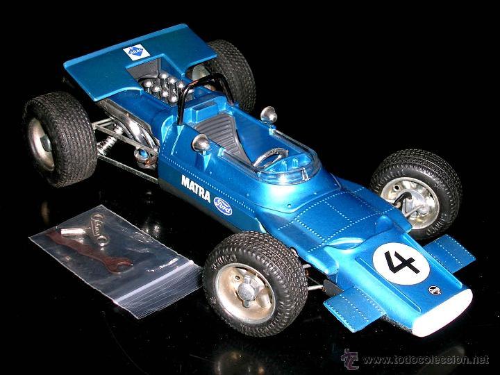 Juguetes antiguos: Matra Ford F-1 Formula 1 ref. 1074, 24 cms, esc 1/16, mecanismo a cuerda, Schuco, Germany. Con caja. - Foto 2 - 49299074