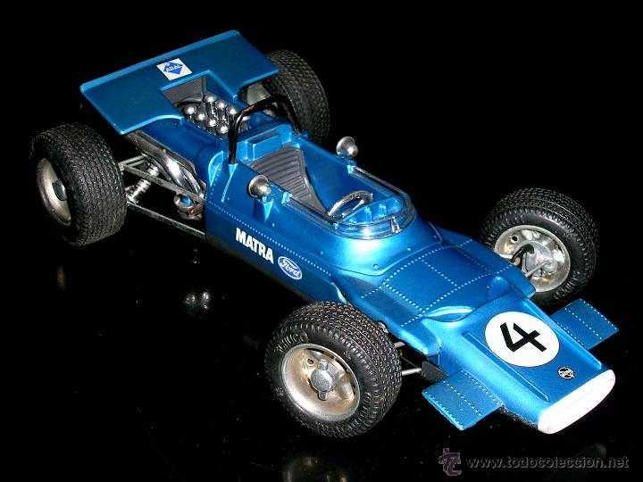 Juguetes antiguos: Matra Ford F-1 Formula 1 ref. 1074, 24 cms, esc 1/16, mecanismo a cuerda, Schuco, Germany. Con caja. - Foto 3 - 49299074