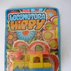 Juguetes antiguos: LOCOMOTORA HIPPY SHAMBERS AÑOS 70 , BLISTER CERRADO. Lote 46692066