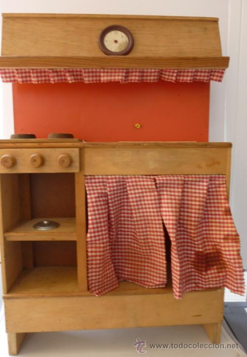 Antigua cocina cocinita madera j llobell s l comprar for Cocinitas de juguete segunda mano
