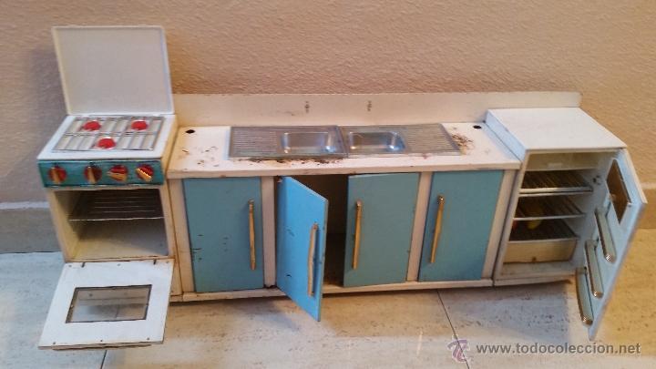 Antigua gran cocina hojalata 70 cm horno nevera comprar for Armarios de cocina antiguos