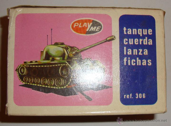 DIFICIL CAJA VACIA DE PLAYME TANQUE CUERDA LANZA FICHAS REF 306 (Juguetes - Marcas Clasicas - Otras Marcas)