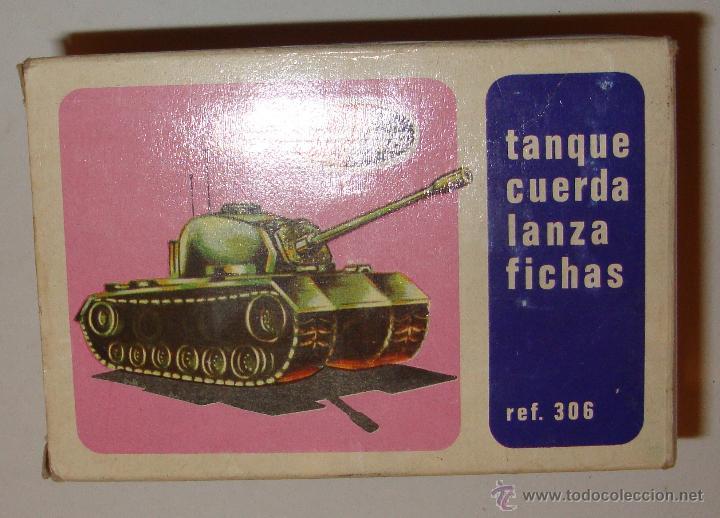 Juguetes antiguos: DIFICIL CAJA VACIA DE PLAYME TANQUE CUERDA LANZA FICHAS REF 306 - Foto 3 - 50615002
