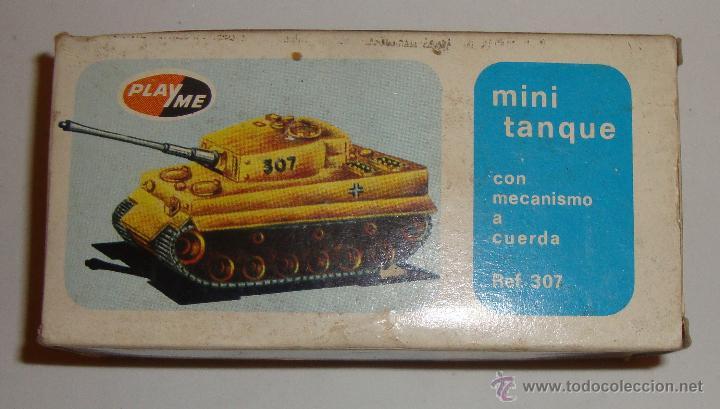 Juguetes antiguos: DIFICIL CAJA VACIA DE PLAYME MINI TANQUE REF 307 - Foto 3 - 50615003
