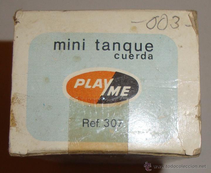 Juguetes antiguos: DIFICIL CAJA VACIA DE PLAYME MINI TANQUE REF 307 - Foto 6 - 50615003
