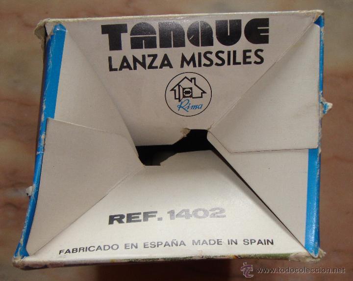 Juguetes antiguos: DIFICIL CAJA VACIA TANQUE LANZA MISILES DE RIMA - Foto 5 - 50748192