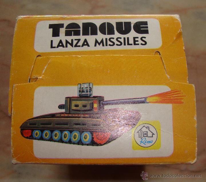 Juguetes antiguos: DIFICIL CAJA VACIA TANQUE LANZA MISILES DE RIMA - Foto 6 - 50748192