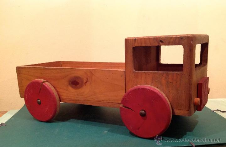 Bonito cami n juguete r stico artesanal de made comprar - Juguetes antiguos de madera ...