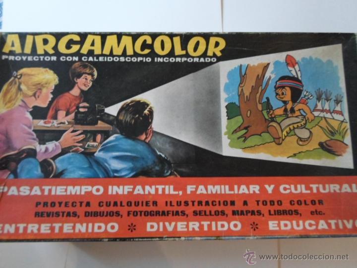 Juguetes antiguos: PROYECTOR AIRGAMCOLOR CON CALEIDOSCOPIO INCORPORADO - Foto 2 - 52150733