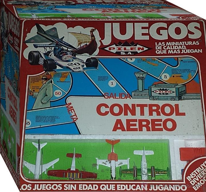 Juguetes antiguos: AVIONES DE PILEN - JUEGO CONTROL AEREO - Foto 7 - 36504827