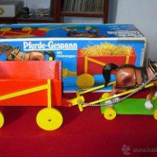 Juguetes antiguos: CABALLO CON CARRO DE LA MARCA SIMBA, EN SU CAJA ORIGINAL ART, Nº 4231295, GRAN TAMAÑO, VER FOTOS.. Lote 52576451