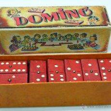 Brinquedos antigos: DOMINÓ ENRIQUE BORRÁS Y CÍA MATARÓ FICHAS MADERA AÑOS 50 COMPLETO. Lote 52934373