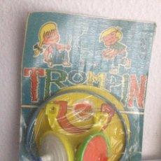 Juguetes antiguos: TROMPÍN. TROMPO DE NACORAL. AÑOS 70. BLISTER. ORIGINAL. SIN ABRIR.. Lote 53116181