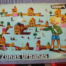 Juguetes antiguos: URBIS 4, GOULA, JUEGO DE CONSTRUCCIÓN CON PIEZAS DE MADERA, AÑOS 60. Lote 53574893