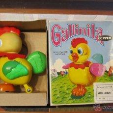 Brinquedos antigos: PRECIOSA GALLINITA DE GEYPER AÑOS 60 COMPLETA CON SU CAJA NO JUGADA. Lote 54005896