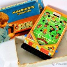 Juguetes antiguos: MILLONCETE FUTBOLCETE. DE AIRGAM, CON CAJA. FUNCIONA. REF 905. Lote 54010099