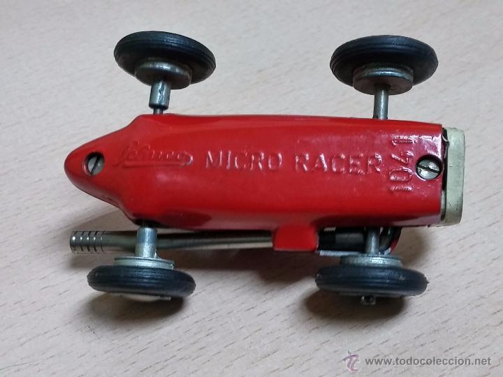 Juguetes antiguos: COCHE SCHUCO MICRO RACER 1041, A CUERDA, DE LOS AÑOS 1950, LLEVA PALANCA PARA PARAR Y PONERLO EN MAR - Foto 6 - 54509185