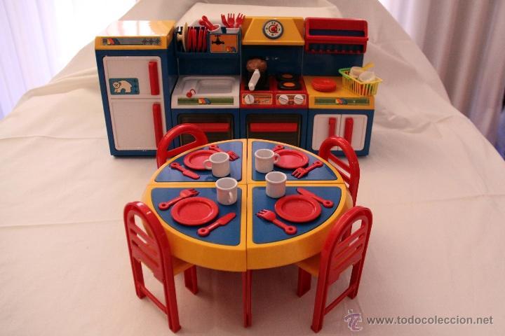 cocina molto años 80, 4 modulos mesa sillas y a - Comprar Juguetes ...