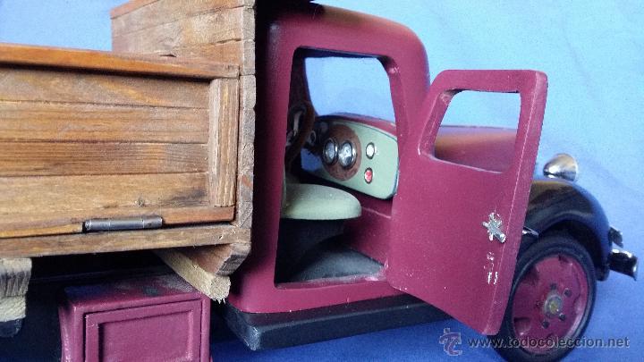 Juguetes antiguos: ESPECTACULAR CAMION DE CARGA EN MADERA - Foto 8 - 54659568