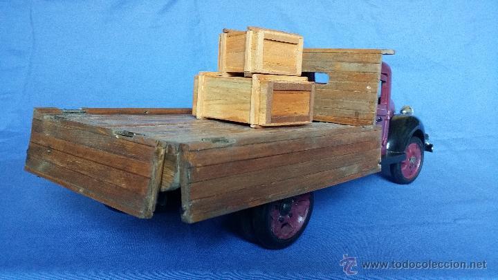 Juguetes antiguos: ESPECTACULAR CAMION DE CARGA EN MADERA - Foto 9 - 54659568