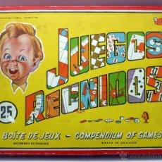 Juguetes antiguos: JUEGOS REUNIDOS CAJA 25 GEYPER AÑOS 60 INCOMPLETO. Lote 55028777