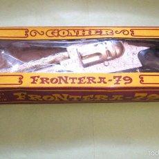Juguetes antiguos: MAGNIFICO REVOLVER DE GONHER FRONTERA 79.NUEVO.PIEZA UNICA.MUY DIFICIL. Lote 55315819