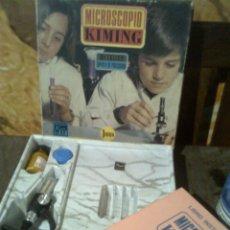 Juguetes antiguos: MICROSCOPIO METÁLICO KIMING - PRIMEROS AÑOS 70´S - ANTERIOR AL FAMOSO 2002- SIN USO. Lote 56193141