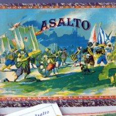 Juguetes antiguos: JUEGO ASALTO ENRIQUE BORRÁS MATARÓ AÑOS 30 - 40 CON TABLERO FICHAS MADERA INSTRUCCIONES COMPLETO. Lote 57085259
