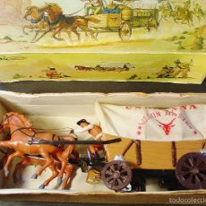 Juguetes antiguos: CARAVANA DEL OESTE. VICMA. CON CAJA.. Lote 81714826