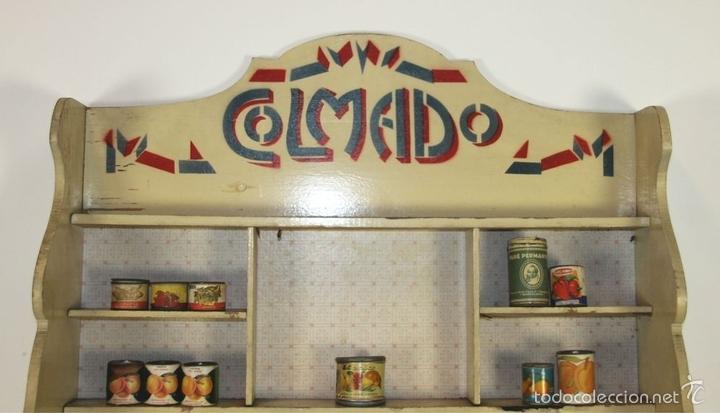 Juguetes antiguos: APARADOR O MOSTRADOR COLMADO DE JUGUETE EN MADERA. ESPAÑA. CIRCA 1930. - Foto 4 - 59747972