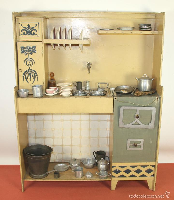 Antigua cocina de juguete en madera espa a ci comprar for Cocina juguete segunda mano