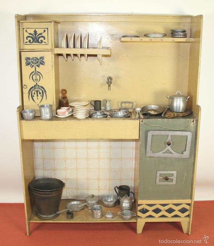 Antigua cocina de juguete en madera espa a ci comprar for Cocina de madera juguete