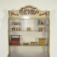 Juguetes antiguos: APARADOR O MOSTRADOR COLMADO DE JUGUETE EN MADERA. ESPAÑA. CIRCA 1930.. Lote 59747972