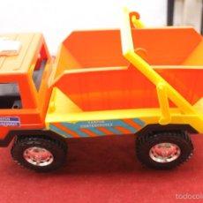 Brinquedos antigos: CAMION KARPAN CONTENEDOR, PLASTICO DURO, AÑOS 70 EN SU CAJA. Lote 61396191
