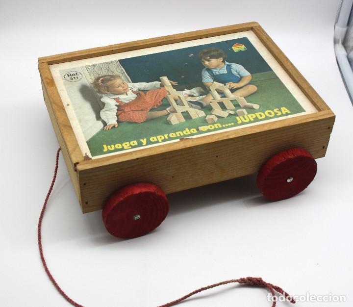 Antiguo juego de construcci n de madera de jupd comprar - Juguetes antiguos de madera ...