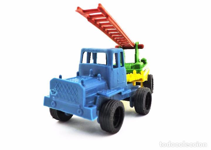 Juguetes antiguos: VAM Lote de Camiones Ford articulados escalera - Foto 2 - 121568434