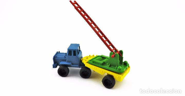 Juguetes antiguos: VAM Lote de Camiones Ford articulados escalera - Foto 3 - 121568434