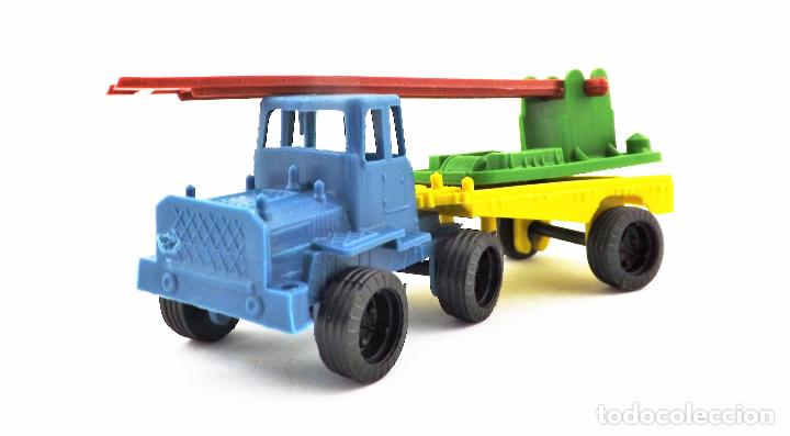 Juguetes antiguos: VAM Lote de Camiones Ford articulados escalera - Foto 4 - 121568434