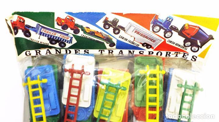 Juguetes antiguos: VAM Lote de Camiones Ford articulados escalera - Foto 5 - 121568434
