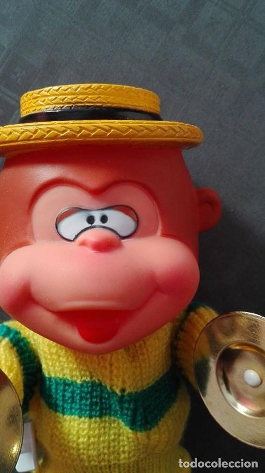 Juguetes antiguos: mono con platillos- mi happy toy años 70 - Foto 3 - 65435597