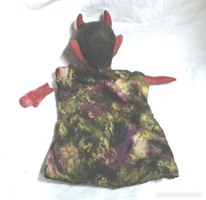 Juguetes antiguos: Demonio Guiñol Titere Marioneta caucho años 60. Med 26 cm - Foto 2 - 66507694