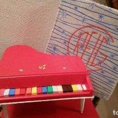 Juguetes antiguos: ANTIGUO JUGUETE GRAN PIANO DE COLA JUGUETES MUSICALES CLAUDIO REIG 15 TECLAS REF 754 PLASTICO. Lote 67540209