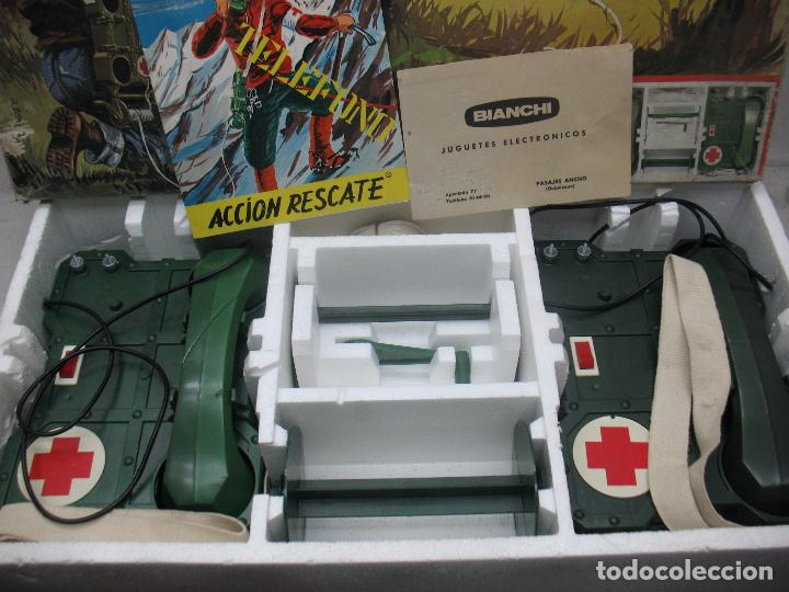 Juguetes antiguos: BIANCHI - Acción Rescate de plástico teléfonos con mecanismo a pilas - Foto 4 - 67575049