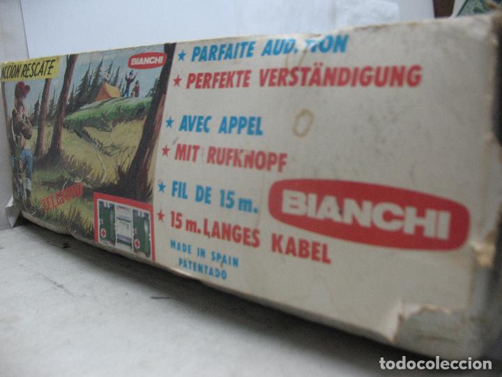 Juguetes antiguos: BIANCHI - Acción Rescate de plástico teléfonos con mecanismo a pilas - Foto 5 - 67575049