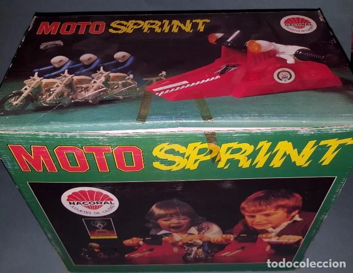 Juguetes antiguos: MOTO SPRINT NACORAL JUGUETE ARO DE PLATA 1979 - Foto 9 - 67822017