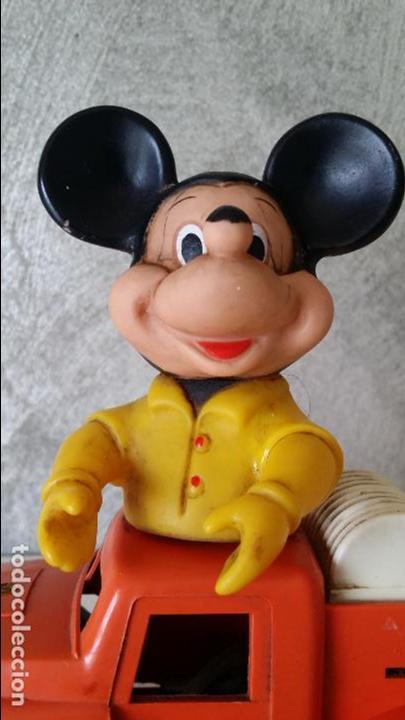 Juguetes antiguos: ANTIGUO COCHE BOMBEROS A CUERDA MICKEY MOUSE ESTRELA S.A. - Foto 3 - 68307389