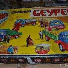 Juguetes antiguos: CAMIONES GEYPER MONTAJE EN CADENA. Lote 69642033