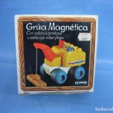 Juguetes antiguos: 11 JUGUETE GRÚA MAGNÉTICA DE GEYPER. Lote 70180753